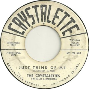 CRYSTALETTES - 1963 A