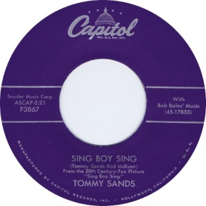 SANDS - SING BOY SING