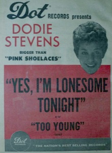 Stevens, Dodie - 12-60 - Yes I'm Lonesome Tonight