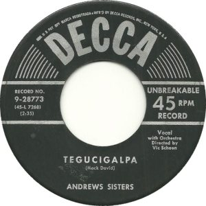 ANDREW SISTERS - 53 A