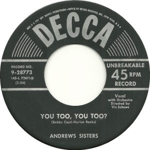 ANDREW SISTERS - 53 B