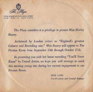 BASSEY SHIRLEY 61 A