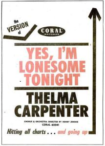 Carpenter, Thelma - 01-61 - Yes I'm Lonesome