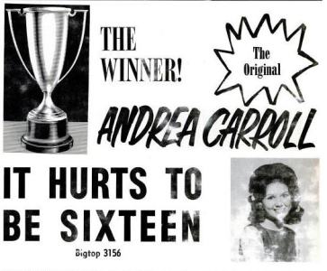 Carroll, Andrea - 07-63 - It Hurts to Be Sixteen
