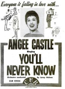 Castle, Angee - 07-59 - You'll Never Know