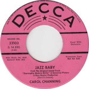 CHANNING CAROL - 67 D