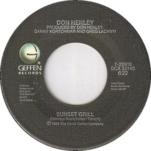 DON HENLEY - SUNSET GRILL A 1985