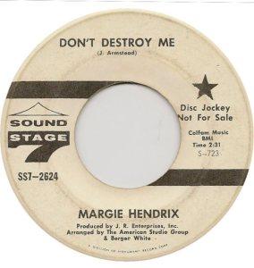 HENDRIX MARGIE 65 B