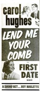 Hughes, Carol - 12-57 - Lend Me Your Comb