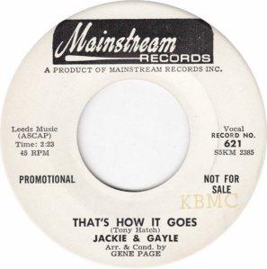 JACKIE GAYLE - 65 A