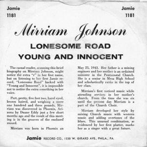 JOHNSON MIRRIAM - 61 B