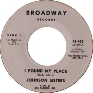 JOHNSON SISTERS - 64 A