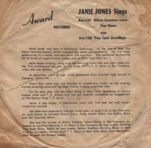 JONES JANIE 59 B