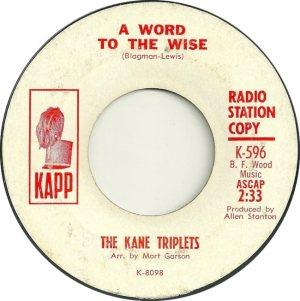 KANE TRIPLETS 64 B