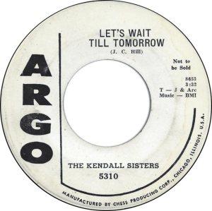 KENDALL SISTERS - 58 B