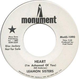 LEAMON SISTERS - 68 A