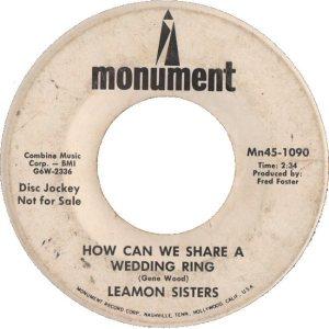 LEAMON SISTERS - 68 B
