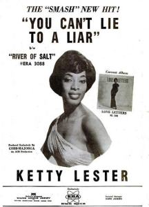 Lester, Ketty - 09-62 - You Can't Lie to a Liar