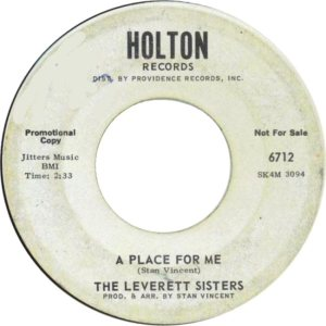 LEVERETT SISTERS - 65 HOLT A
