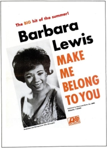 Lewis, Barbara - 07-66 - Make Me Belong to You