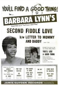Lynn, Barbara - 09-62 - Second Fiddle Love