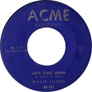MILLER SISTERS - ACME 57 b