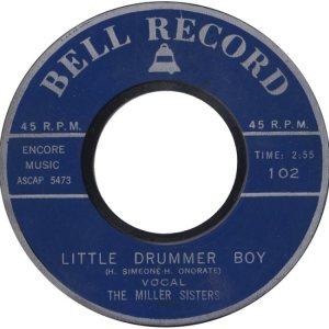 MILLER SISTERS - BELL 58 B