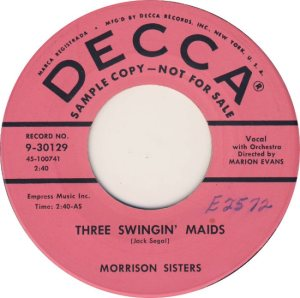 MORRISON SISTERS - 56 A