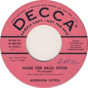 MORRISON SISTERS - 56 B
