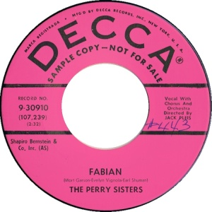 PERRY SISTERS - 59 A
