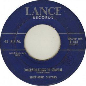 SHEPHERD SISTERS - 57 LANCE B