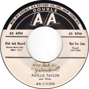 TAYLOR PHILLIS - 50'S C