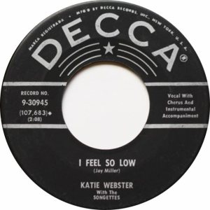 WEBSTER KATIE SONGETTES 59 B