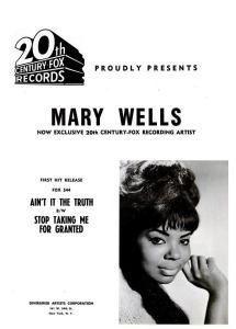 Wells, Mary - 10-64 - Ain't it the Truth