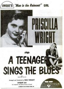 Wright, Priscilla - 07-56 - A Teenager Sings the Blues