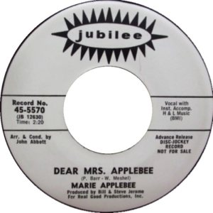 APPLEBEE MARIE 67 A