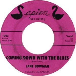 BOWMAN JANE - 61 B