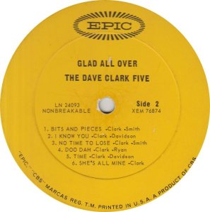 CLARK FIVE DAVE 01 B