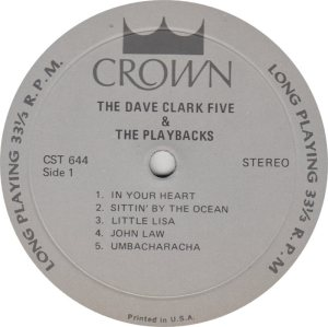 CLARK FIVE DAVE 08 A