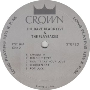 CLARK FIVE DAVE 08 B