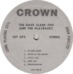CLARK FIVE DAVE 10 B