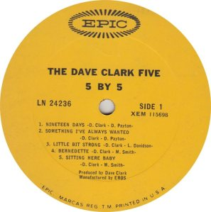 CLARK FIVE DAVE 14 A