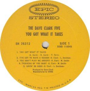 CLARK FIVE DAVE 15 A