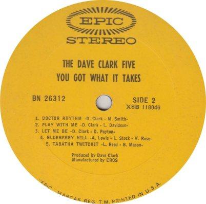 CLARK FIVE DAVE 15 B