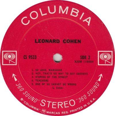 COHEN LEONARD 01 B