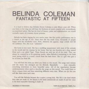COLEMAN BELINDA - 1960'S 01 B