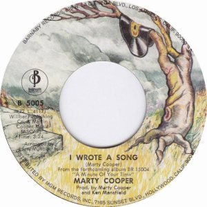 COOPER MARTY - BARNABY 9-72 A