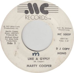 COOPER MARTY - MC MIKE CURB 77