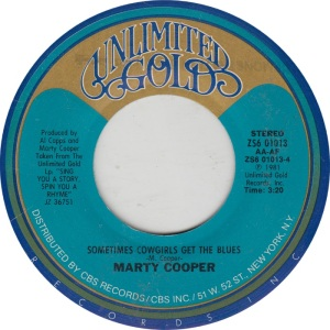 COOPER MARTY - UNLIMITED GOLD 1013