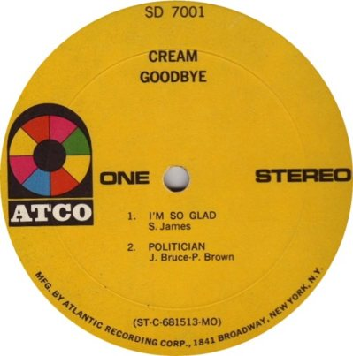 CREAM - GOODBYE C